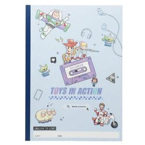 B5 英習帳 英語ノート トイストーリー 入学準備 文具 小学校 女の子向け ディズニー クラックス 13段 メール便可