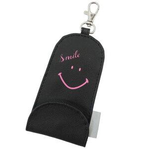 伸びる鍵カバー リール付きキーケース スマイリーフェイス 小学生 入学準備 女の子向け Smiley Face クラックス 通学用品 メール便可