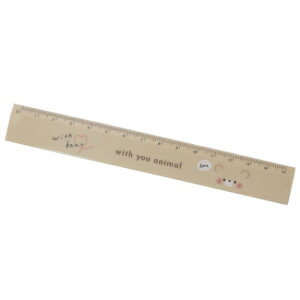 ベア スリム 15cm 定規 ものさし ウィズユーアニマル クマ カミオジャパン 新学期準備雑貨 女の子向け メール便可