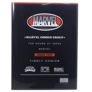 10ポケット A4 クリアファイル ファイル マーベル ブラック MARVEL クラックス 新学期準備雑貨 【MARVELCorner】