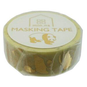 15mm マステ マスキングテープ Panda ぱんだ クローズピン パンダ 手帳デコ 学生 大人 おしゃれ かわいい メール便可