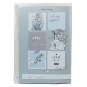 SUGAR GIRL A5カバー付き れんらくノート 連絡帳 カミオジャパン 新学期準備文具 かわいい メール便可