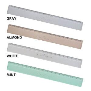 ニュアンスカラー 17cm スリムストレートスケール 定規 ミスティ Q-LIA クーリア ものさし 新学期準備文具 小学生 中学生 高校生 シンプル メール便可