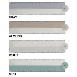 ニュアンスカラー 30cm 折りたたみスケール 定規 ミスティ Q-LIA クーリア ものさし 新学期準備文具 小学生 中学生 高校生 シンプル メール便可