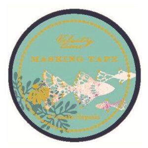 15mm マステ マスキングテープ Tomoko Hayashi レーシーフィッシュ クローズピン ガーリーイラスト おしゃれ 文具 メール便可