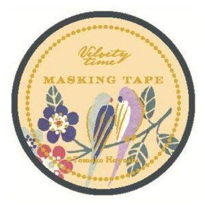 15mm マステ マスキングテープ Tomoko Hayashi バーズ&フラワーズ クローズピン ガーリーイラスト おしゃれ 文具 メール便可