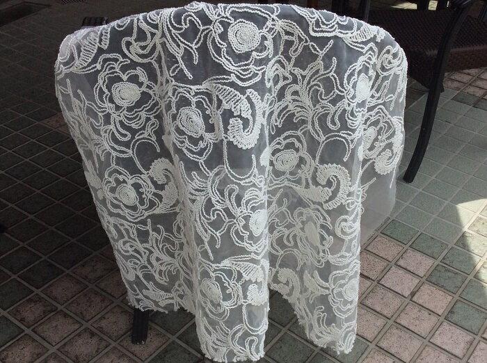 コード刺繍オーガンジー