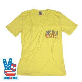 【SALE】【雑誌OCEANS掲載商品】JUNK FOOD/ジャンクフード【新作】半袖PeaceTシャツ【Yellow・イエロー・黄】アメリカ USA 星条旗 アメリカンフラッグ【XS/S/M】海外セレブ アメカジ サーフ メンズ