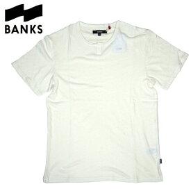 【SALE】新作【BANKS(バンクス)】ヘンリーネックTシャツ【WHITE・ホワイト・白】【S/M/L】西海岸 アメカジ サーフ【メンズ】