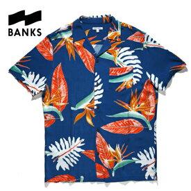 【SALE】新作【あす楽】BANKS(バンクス) 花柄シャツ アロハシャツ【BLUE/ブルー/青】アメカジ サーフ 西海岸【S/M/L】ASS0082
