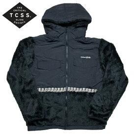 【SALE】新作【あす楽】TCSS ボアフリース パーカー ジップパーカー【ブラック・BLACK・黒】アメカジ サーフ 西海岸【S/M/L/XL】BOA1902