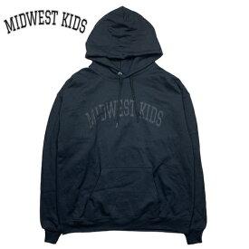 限定入荷【あす楽】MIDWEST KIDS パーカー フーディー【ブラック/黒/BLACK】 西海岸 ストリート【L/XL】