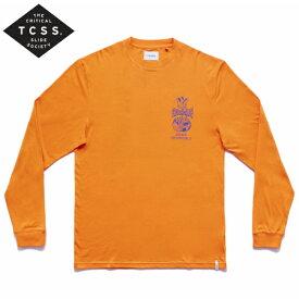新作【あす楽】TCSS 長袖プリントTシャツ ロンT【ORANGE/オレンジ】アメカジ サーフ 西海岸【M/L/XL】TE18267