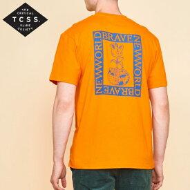 新作【あす楽】TCSS プリントTシャツ【ORANGE/オレンジ】アメカジ サーフ 西海岸【M/L/XL】TE18256
