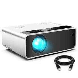 ELEPHAS 小型 プロジェクター LED 4200lm 1920×1080最大解像度 内蔵スピーカー* 2 台形補正 HDMI/USB/VGA/TF/AV対応 スマホ/パソコン