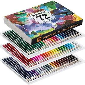 色鉛筆 72色 アート鉛筆セット 油性色ペン - Akura - 塗り絵 美術 描き用 スケッチ用 プレゼント 鉛筆削り付き