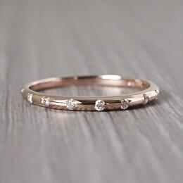 【あす楽】K18ドット0.1ctリングエタニティリング10石ダイヤモンド10周年プラチナ18金対応指輪シンプル華奢細身ハーフエタニティハーフエタニティ送料無料ダイヤエタニティハードプラチナ