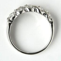 K18Pt900[1.0ct]ダイヤモンドスイート10リング/送料無料品質保証書付プラチナ1カラットダイヤダイアモンドリング指輪レディースジュエリーギフトプレゼント10石結婚10周年夫妻結婚記念日