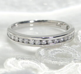 ハーフエタニティリング ダイヤモンド 0.3ct Pt950/ ファッション ジュエリー アクセサリー レディース 指輪 リング プラチナ ダイア エタニティ シンプル 0.3カラット 重ねづけ 華奢 ギフト プレゼント