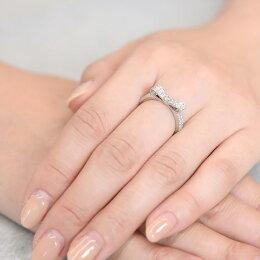 【あす楽】幸せリボンのダイヤモンドリングPt950送料無料品質保証書付リボンリングプラチナ指輪ジュエリー誕生日贈り物プレゼントギフト人気結婚記念日ダイヤモンド