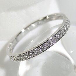 K18WG0.15ctフチありハーフエタニティリングダイヤモンド送料無料品質保証書付18k18金ホワイトゴールドスタンダードハーフエタニティリング万能アイテムハーフエタニティ
