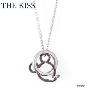 ディズニーコレクション ディズニー / ネックレス / ミッキーマウス / フェイスダブルチャーム / THE KISS ペア ネックレス・ペンダント シルバー ダイヤモンド (メンズ 単品) DI-SN1203DM ザキス