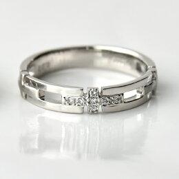 K18Pt950マリッジリングペア0.03ct[No.16]/送料無料結婚指輪プラチナダイヤモンドペアリングメンズレディースリング指輪ジュエリープロポーズプレゼント刻印名入れブライダル妻夫結婚記念日
