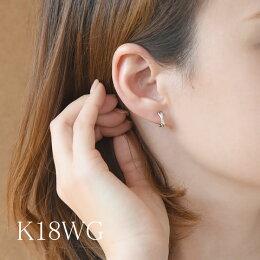 【あす楽】ダイヤモンドクロスデザインピアリングK18/ジュエリーイヤリングK18ダイアモンドギフトプレゼント贈り物記念送料無料品質保証書付結婚式