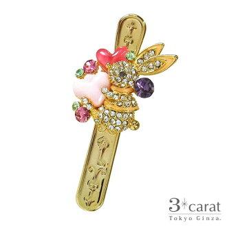 Bag key clip key ring love Lela bit pink heart rabbit rabbit