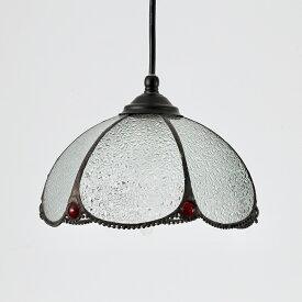 ペンダントライト 1灯 ガラス 天井照明 LED アウトドア レトロ アンティーク カントリー 北欧 洋風 和風 リビング ダイニング 吹き抜け 階段 玄関 カフェ レストラン 照明器具 シンプル おしゃれ ステンドグラス
