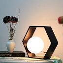 テーブルライト ハニカム 1灯 LED 六角形 スタイリッシュ ナチュラル モダン 北欧 洋風 モノトーン リビング ダイニング ベッドルーム 寝室 和室 フロア デスク カフェ 照明器具 シンプル おしゃれ