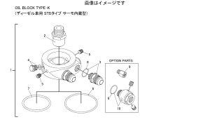 トラスト TRUST GReddy オイルブロック補修パーツ OIL BLOCK TYPE-K ディーゼル専用 STDタイプ サーモ内蔵型 1/8PT/M18センサーアダプター 1/8PT/M18×P1.5 (9番) (16400720)