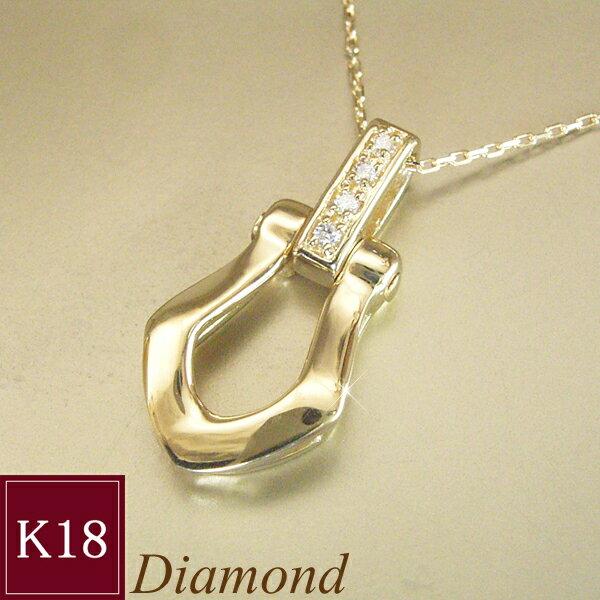 K18 幸運のホースシュー ダイヤモンド ネックレス 馬蹄 品番MA-0284 3営業日前後の発送予定