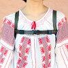 帆布背包向下掉,配有防止带书皮革日本制造肩膀皮带分歧下降制动器20mm橡胶漂亮的帆布背包持有皮带胸皮带前台吊带分歧防止女士包帆布背包日包帆布背包