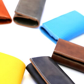 本革 日本製 財布 ウォレット コンパクト 薄い 小さい 軽い さいふ 三つ折り はぎれ 革 レザー ハギレ メンズ レディース 男性 女性 小さい財布 ミニ財布 極小財布