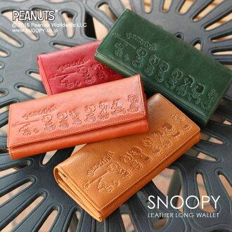 史努比在 L 拉鍊長錢包皮革長錢包錢包