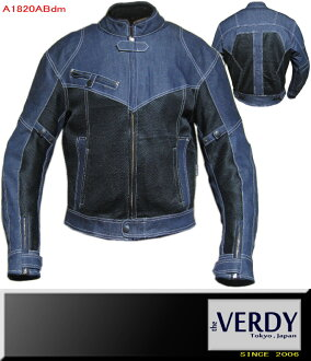 VERDY dark blue denim & mesh jacket Navy Black * A1820ABdm