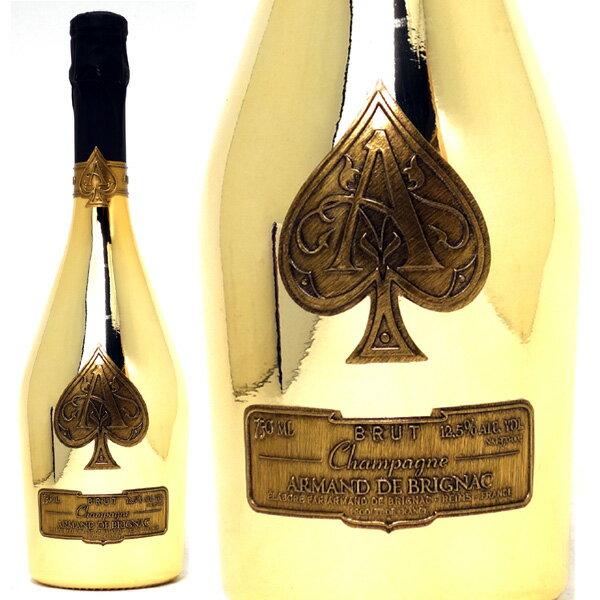送料無料 アルマン ド ブリニャック ブリュット ゴールド 箱なし 750mlアルマン・ド・ブリニャック 並行品 シャンパーニュ白シャンパン コク辛口 ワイン ^VAAB26Z0^