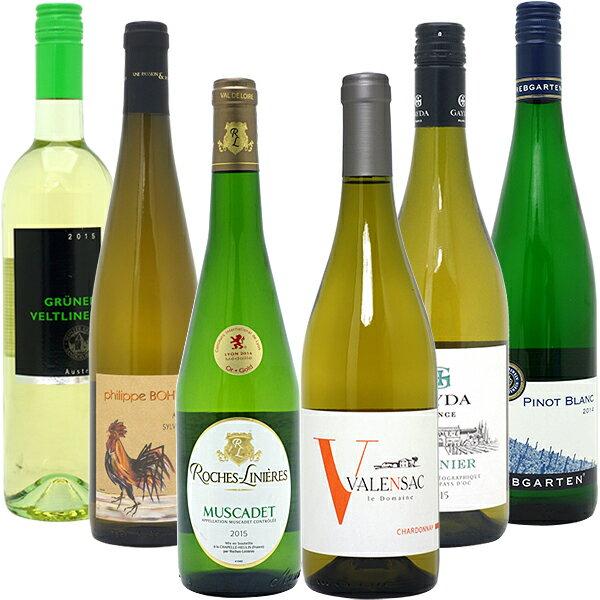 ワインセット 【送料無料】名産地!代表ぶどう品種 白6本セット≪第82弾≫ ワイン ワインセット gift ^W0S299SE^