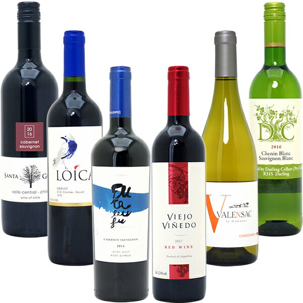 ワインセット 【送料無料】美味しいものだけ6本(赤4本+白2本)≪第105弾≫ 金賞 赤ワイン 白ワイン wine gift ^W0F750SE^