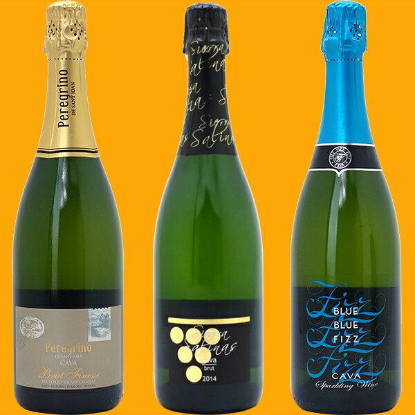 [5]ワインセット 【送料無料】スパークリングワイン すべて本格シャンパン製法の豪華泡3本セット ≪第99弾≫ ワイン ギフト wine gift チラシ5^W0GR17SE^