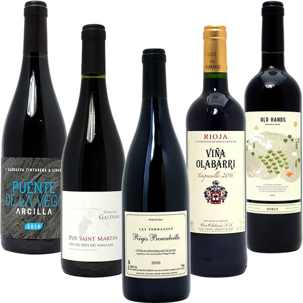【10%OFF!】ワインセット 送料無料BIOワイン極上赤だけ5本セット ワイン ギフト wine gift パーティ 料理に合う 安くて美味しい ^W03I52SE^