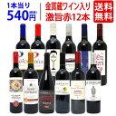 【送料無料】ワイン誌高評価蔵や金賞蔵ワインも入った激旨赤12本セット ワインセット ^W0AK06SE^