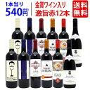 【送料無料】ワイン誌高評価蔵や金賞蔵ワインも入った激旨赤12本セット ワインセット (6種類各2本) ^W0AK26SE^