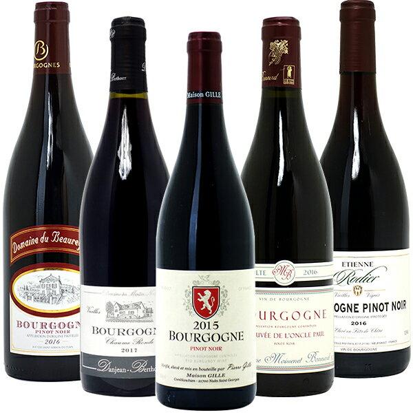 ワインセット 送料無料赤ワイン ワインセット ギフトブルゴーニュ有名蔵 すべて激ウマ赤5本セット パーティ 料理に合う 安くて美味しい^W0B528SE^