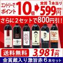 ▽(6大 ワインセット 2セット800円引)送料無料 ワイン 赤ワインセットワイン誌高評価蔵や金賞蔵ワインも入った激旨赤6…