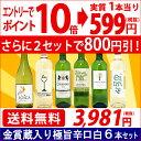 ▽(6大 ワインセット 2セット800円引)送料無料 ワイン 白ワインセットワイン誌高評価蔵や金賞蔵ワインも入った辛口白6…