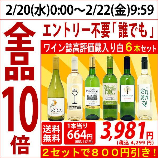 ▽2セット800円引 送料無料 ワイン 白ワインセットワイン誌高評価蔵や金賞蔵ワインも入った辛口白6本セット^W0SW81SE^