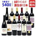【送料無料】ワイン誌高評価蔵や金賞蔵ワインも入った激旨赤12本セット ワインセット (6種類各2本) ^W0AK34SE^