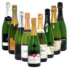 【送料無料】すべて本格シャンパン製法の豪華泡9本セット ワインセット スパークリング ^W0S928SE^